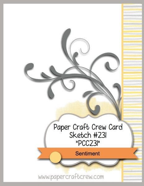 Visit the Paper Craft Crew and play along with Card Sketch 231. #pcc2017 #cardsketch #papercraftcrew www.papercraftcrew.com