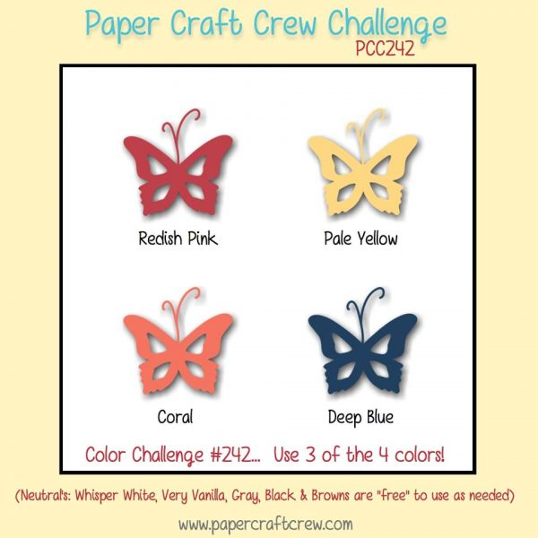Play along with the Paper Craft Crew Color Challenge for #PCC242 #PCC2017