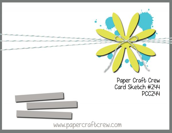 Paper Craft Crew Card Sketch 244. Play along at www.papercraftcrew.com #sketchchallenge #pcc2017