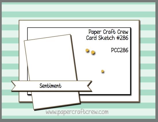 Play along with the Paper Craft Crew for the TWO WEEK Sketch Challenge 286. The challenge starts March 28 and ends April 10, 2018 at 1 PM EST.   Visit the blog at www.papercraftcrew.com to check out the design team samples and to submit your project.  #papercraftcrew #papercrafting #sketchchallenge #color #playalong #imakecards #cardmaker #diy #sendacard #craft #stampinup #cardchallenge #papercraft #bigshot #rainydayfun  #designteam #becreative #artsandcrafts #hobby #snailmail #createeveryday #crafttherapy #creativelifehappylife #pcc2018